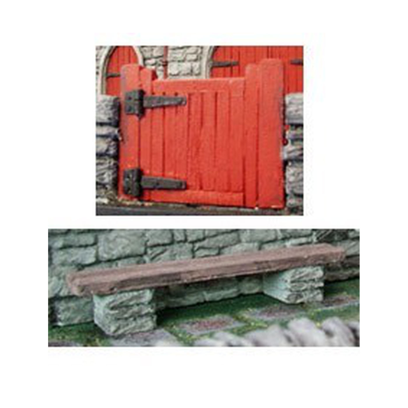 PA072 Church Gate and Bench Pack, model railway accessories, Pendle Valley Workshop, UK