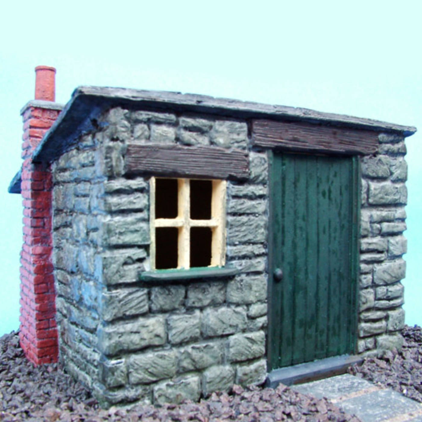 kit product, pvw003-lineside-hut-office-slate-roof, Pendle Valley Workshop, UK
